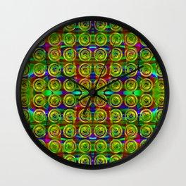 Gold-buttons-pattern Wall Clock