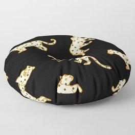 Leopard at Night Floor Pillow