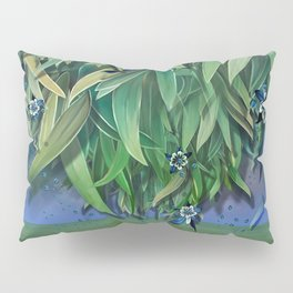 """Spring Forest of Surreal Leaf litter and flowers"" Pillow Sham"