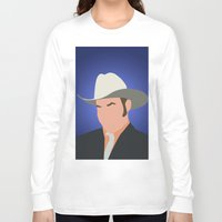 anchorman Long Sleeve T-shirts featuring Champ Kind - Anchorman by Tom Storrer