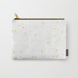 Hand painted yellow gold watercolor splatters Carry-All Pouch