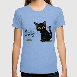 Talking with a bird T-shirt