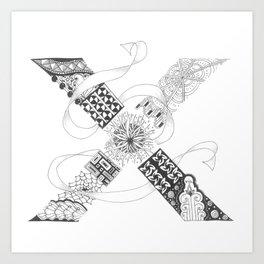 """Zenletter """"X"""" Art Print"""