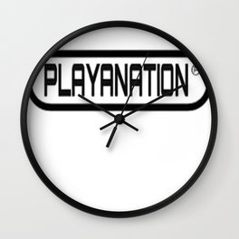 PlayaNation BW 2-Tone Wall Clock