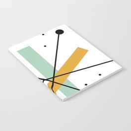 Retro Minimalist Mid Century Modern Pattern Design Notebook