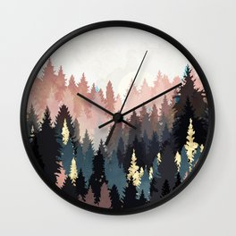Spring Forest Light Wall Clock
