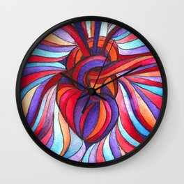 you forgot your heart at rain II Wall Clock