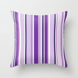Lilac and Mauve Purple Stripes Throw Pillow