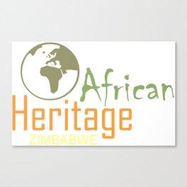African heritage Zimbabwe Canvas Print