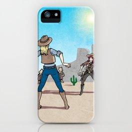 Catfight iPhone Case