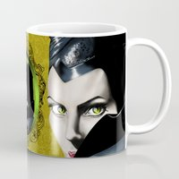 maleficent Mugs featuring Maleficent by Tish