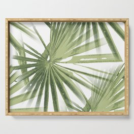 Tropical Beach Palm Vector Serving Tray