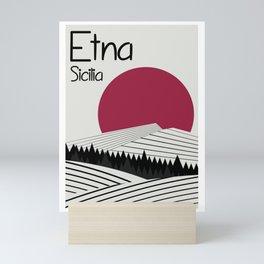 Etna Travelposter Mini Art Print