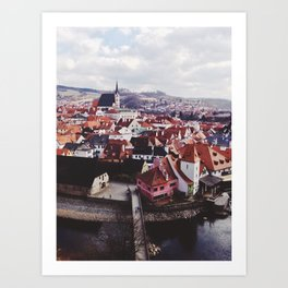 KRUMLOV OVERLOOK Art Print