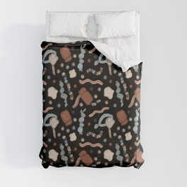Central Dogma - DNA to mRNA to Protein! Duvet Cover