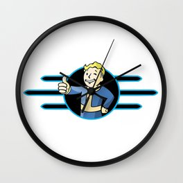 Fallout 4 Vault Boy Thumbs Up Wall Clock