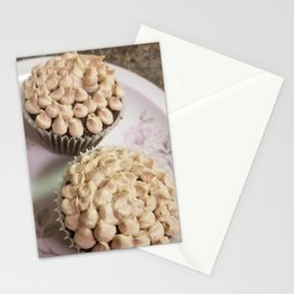Peanut butter chocolate cupcakes Stationery Cards