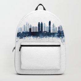 Philadelphia City Skyline Blue Watercolor by zouzounioart Backpack