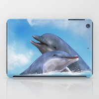 dolphins iPad Cases featuring Dolphins by Susann Mielke