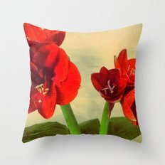 My Christmas flower Throw Pillow