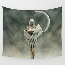 White divine angel Wall Tapestry