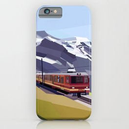 Geometric Jungfraujoch railway, Bernese Alps, Switzerland iPhone Case