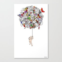 Global Connections (White Background) Canvas Print