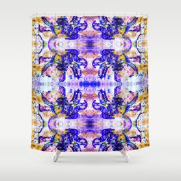 Shattered Blues Shower Curtain