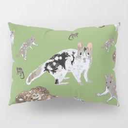 Eastern Quoll (Dasyurus viverrinus) Olive Pillow Sham