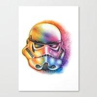 starwars Canvas Prints featuring Stormtrooper StarWars by CipiArt