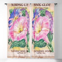 Morning Glory Seed Pack Blackout Curtain
