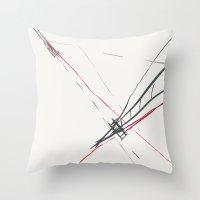 bridge Throw Pillows featuring BRIDGE by  ECOLARTE