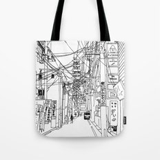 Osaka - downtown street Tote Bag