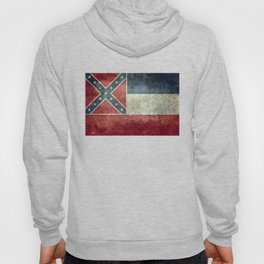 Mississippi State Flag, Vintage Retro Style Hoody