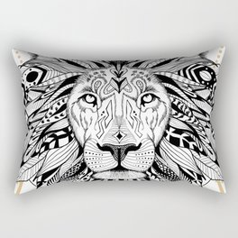 Lion in aztec style Rectangular Pillow