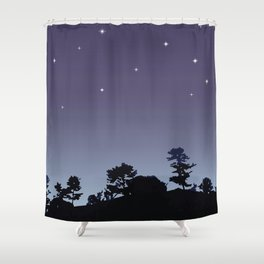 Stars on the hill Shower Curtain