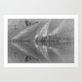 Silver Landscape At Lake Bohinj Art Print