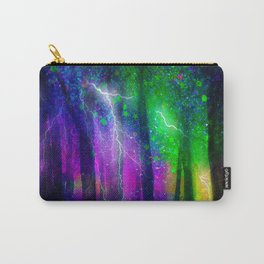 Lightning Fire In Dark Forest Carry-All Pouch