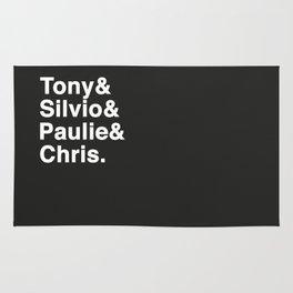 Tony & Silvio & Paulie & Chris. Rug