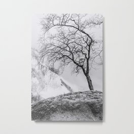 ON THE BRINK (graphite) / Møns Klint, Denmark Metal Print