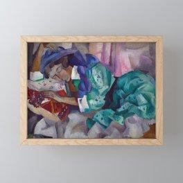 Magnificent 'Gitane Endormie (Sleeping Gypsy)' Dreaming by Robert Rafailovich Falk Framed Mini Art Print