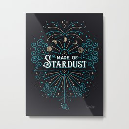 Made of Stardust – Blue & Black Palette Metal Print
