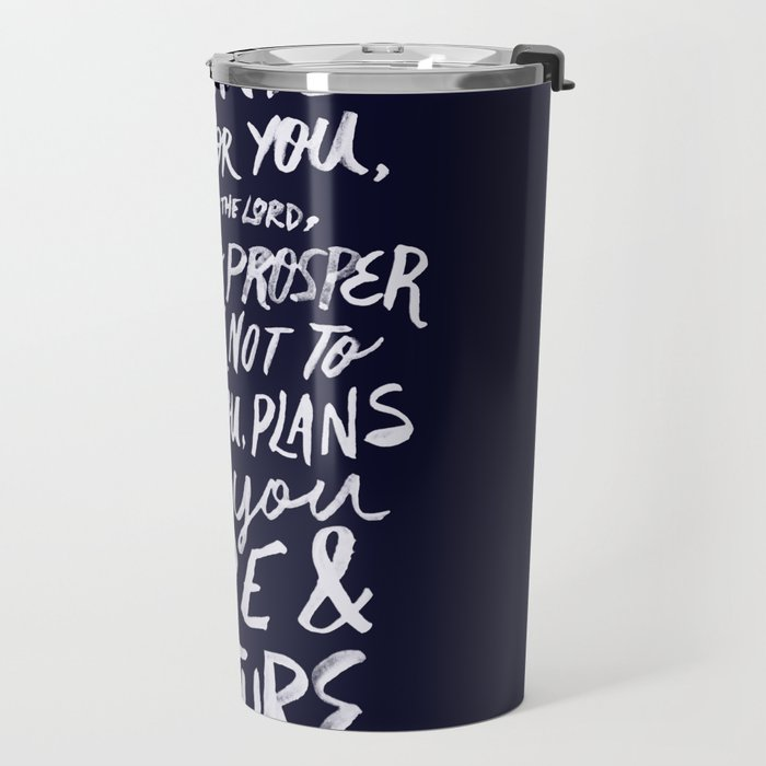 Jeremiah 29: 11 x Navy Travel Mug