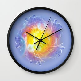 Abstract in blue 4 Wall Clock