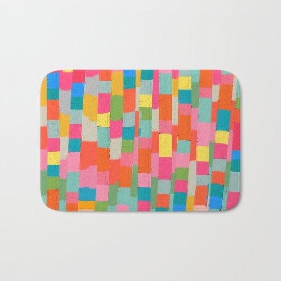 colorful patchwork 2 Bath Mat