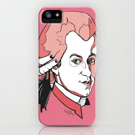 Mozart Composer Mozart Music Composer Vienna Symphony Conductor Italian German English W.A.Mozart Ar iPhone Case
