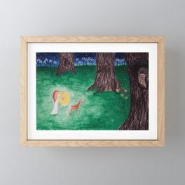 The secret door Framed Mini Art Print