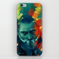 loki iPhone & iPod Skins featuring Loki by AkiMao