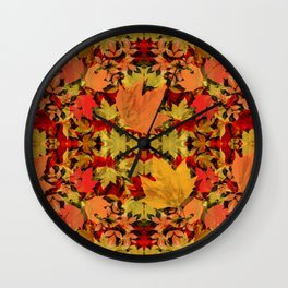 Leaves all Around Wall Clock