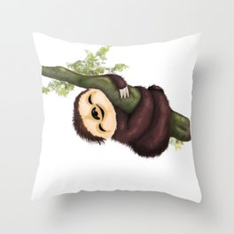 Sloth 2 Throw Pillow